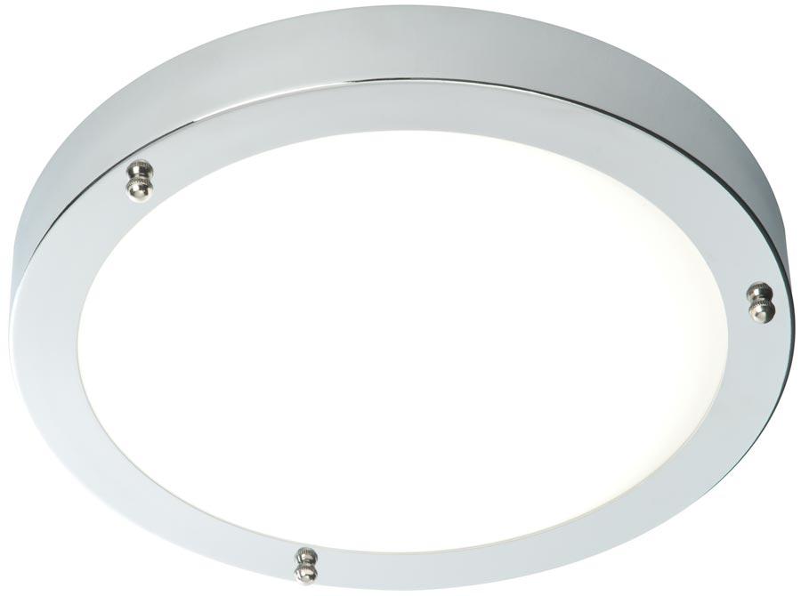 Traditional Bathroom Barclay Flush Fitting Glass Ceiling: Portico Flush IP44 Bathroom Ceiling Light Polished Chrome