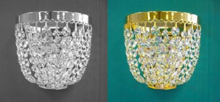 Essen Strass Crystal Wall Light Polished Nickel Or Gold Plated