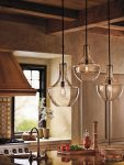 Kichler Everly 1 Light Clear Glass Small Ceiling Pendant Polished Chrome
