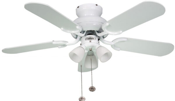 Amalfi 36 inch Fantasia Ceiling Fan With Lights White