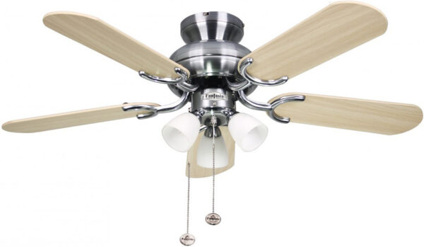 Amalfi 36 Inch Fantasia Ceiling Fan With Lights Stainless Steel