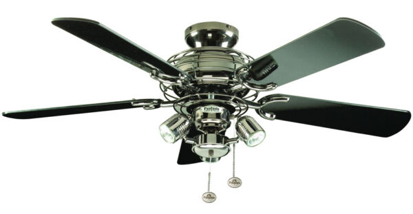 Pewter Gemini 42 inch Fantasia Ceiling Fan With Lights