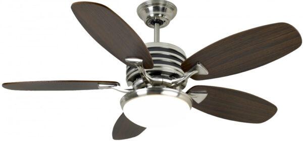 Omega 44 Inch Remote LED Ceiling Fan Brushed Nickel