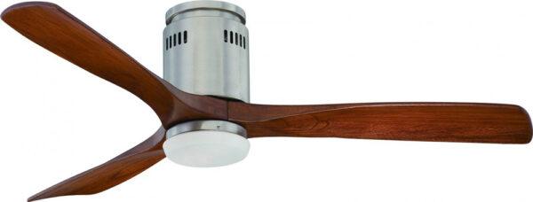 Zeta Brushed Nickel Remote 52 Inch Ceiling Fan Low Energy