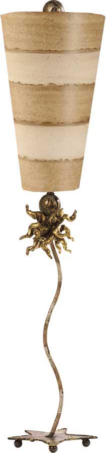 Flambeau Anemone 1 Light Table Lamp Taupe & Cream