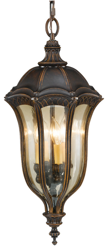 Feiss Baton Rouge Large 4 Lamp Walnut Hanging Porch Lantern