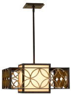 Feiss Remy Art Deco Style Single Light Designer Pendant