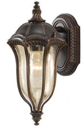 Feiss Baton Rouge Walnut 1 Light Traditional Outdoor Lantern