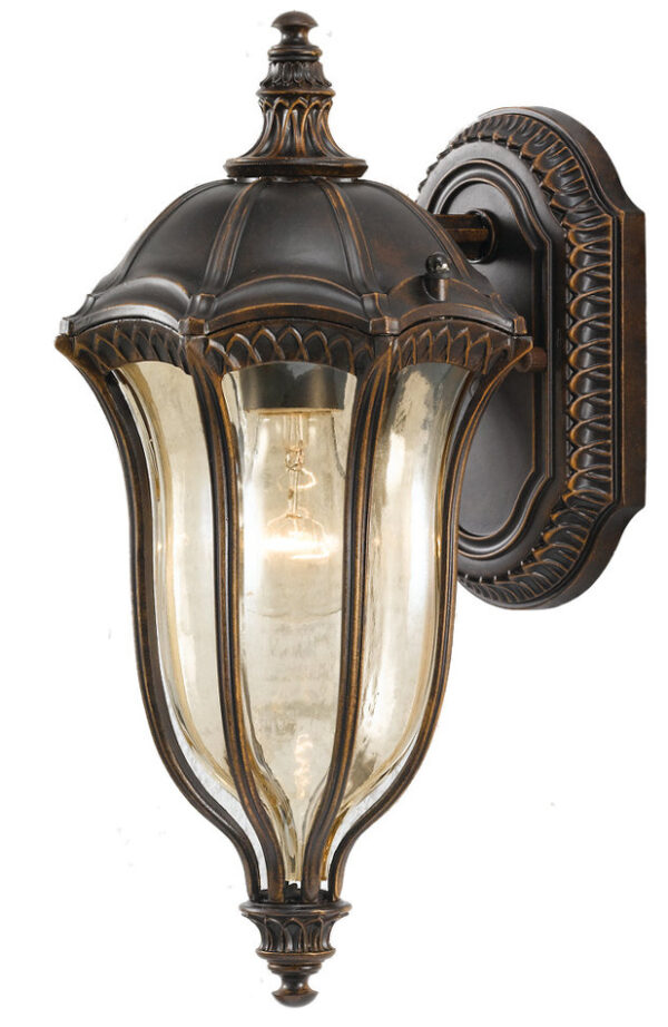 Feiss Baton Rouge Walnut 1 Light Traditional Outdoor Lantern