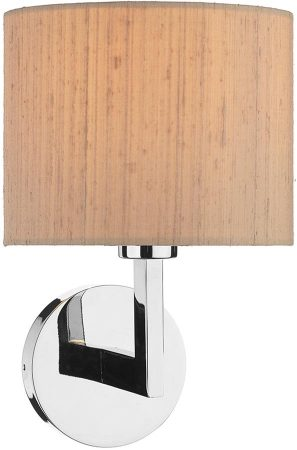 Dar Ferrara Modern Polished Chrome Wall Light Bracket Only