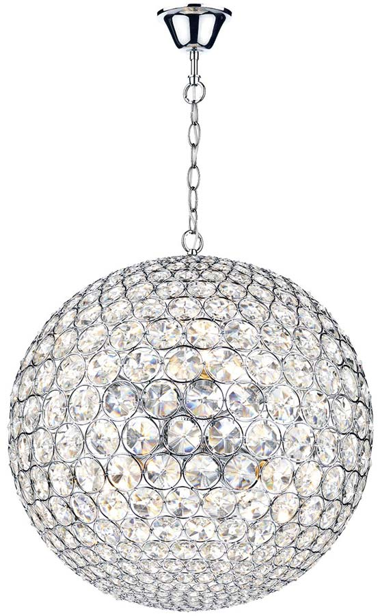 Dar fiesta small modern 5 light crystal globe pendant chrome fie0550 dar fiesta small modern 5 light crystal globe pendant chrome aloadofball Gallery