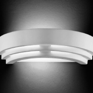 Classic Art Deco Style Paintable Ceramic Up & Down Wall Washer Light