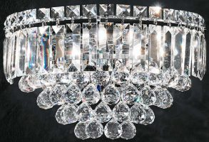 Franklite Constellation Lead Crystal 3 Lamp Wall Light