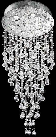 Franklite Constellation 7 Light Ultra Modern Crystal Chandelier