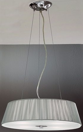 Panache Silver String Drum Shade Pendant Light