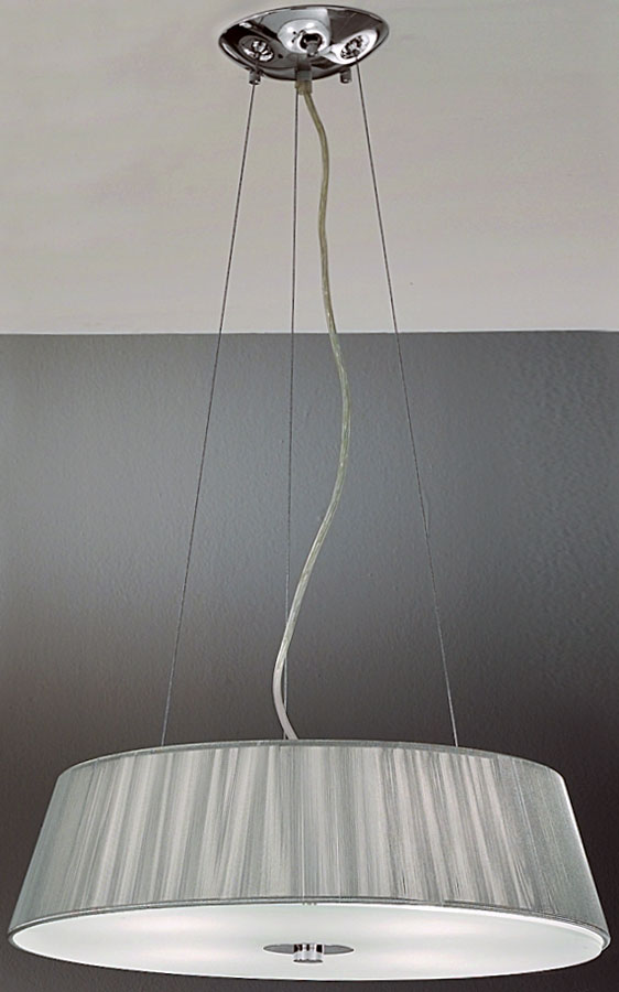 Panache Silver String Drum Shade Pendant Light