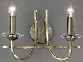 Franklite Carousel Soft Bronze Finish 2 Lamp Wall Light