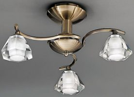 Twista Modern Bronze 3 Light Semi Flush Fitting
