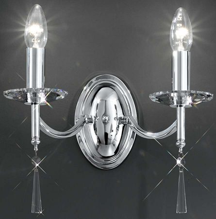 Franklite Hera Chrome Finish Double Wall Light