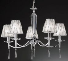 Hera Chrome Finish 5 Light Chandelier With Shades