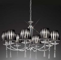 Hera Chrome Finish 8 Light Chandelier With Shades