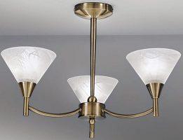 Harmony Bronze 3 Light Semi Flush Ceiling Light