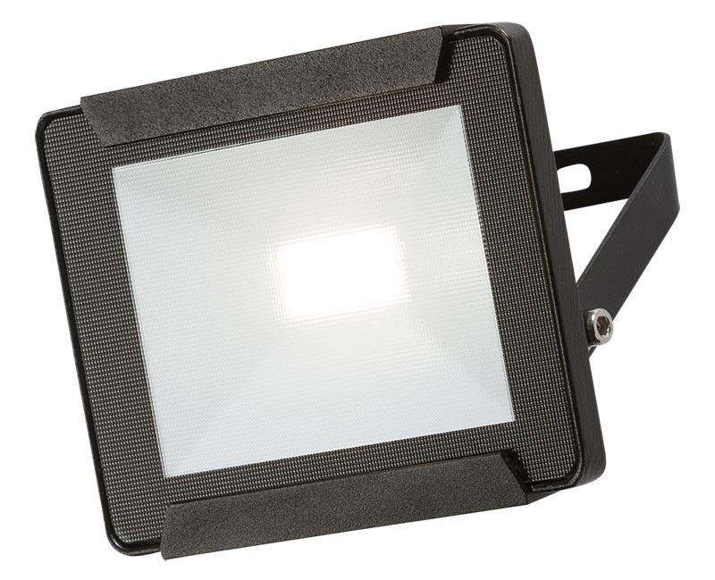 Black 10w LED outdoor security floodlight IP65 800 lumen