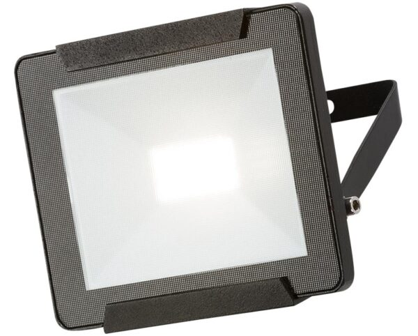 Black 20w LED outdoor security floodlight IP65 1600 lumen