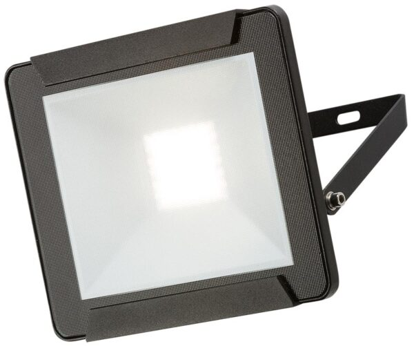 Black 30w LED outdoor security floodlight IP65 2400 lumen