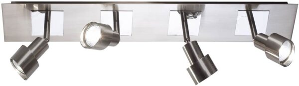 Dar Futura Modern 4 Light Ceiling Spotlight Bar Chrome