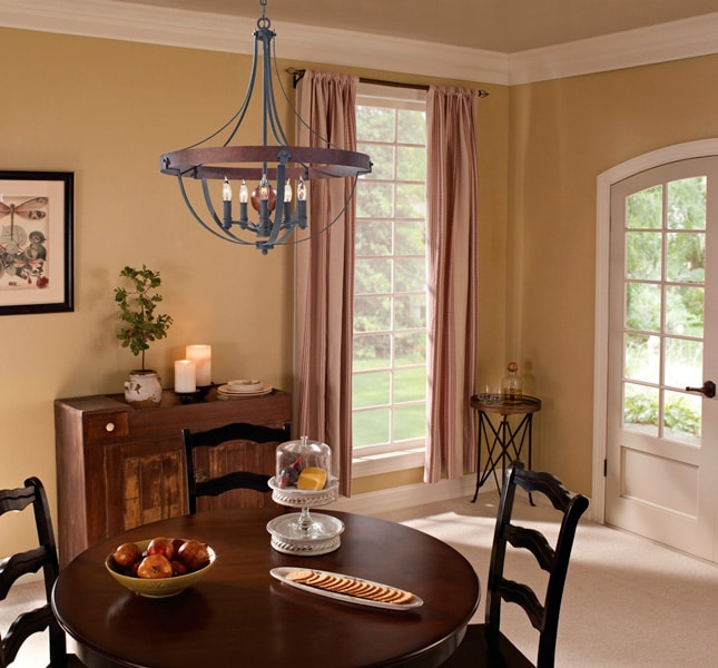 Feiss Alston 5 Light Rustic French Country Cottage ...