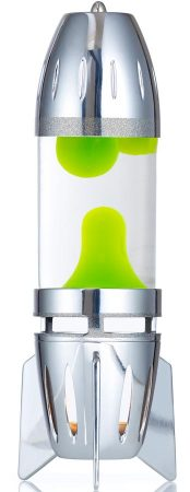 Fireflow Tea Light Clear Liquid With Green Lava Lamp By Mathmos