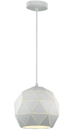 Franklite Tangent 1 Light Small Pendant Ceiling Light White