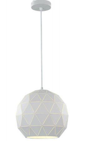 Franklite Tangent 1 Light Medium Pendant Ceiling Light White