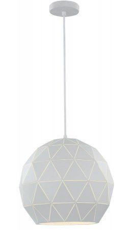 Franklite Tangent 1 Light Large Pendant Ceiling Light White