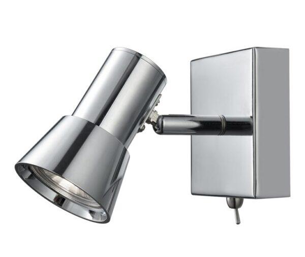 Franklite Aime Single Switched Wall Spot Light Polished Chrome