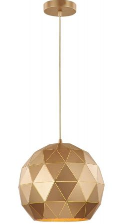 Franklite Tangent 1 Light Medium Pendant Ceiling Light Rose Gold