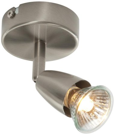 Amalfi Modern Single Wall Or Ceiling Spotlight Satin Nickel