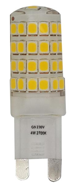 Clear G9 Non Dimmable LED Bulb 4w 370 Lumens Warm White 2700k