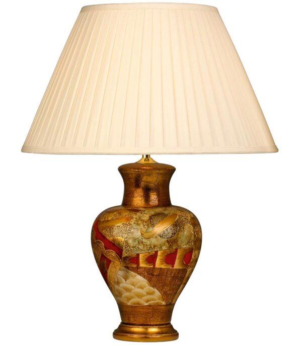 Medium Mediterranean Designer Ceramic Table Lamp Cream Shade