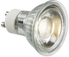 Cool White 5W GU10 COB LED Lamp 410 Lumens