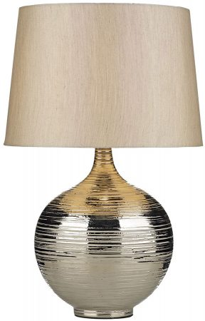 Dar Gustav Large Silver Finish Ceramic Table Lamp