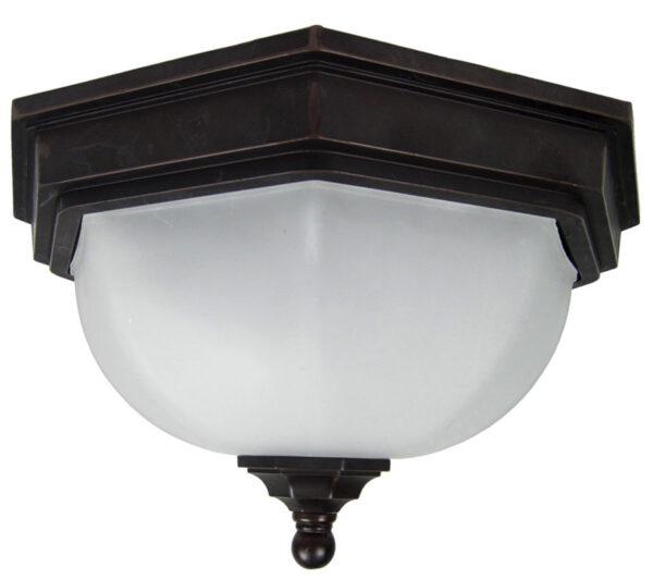 Fairford Antique Bronze Flush Outdoor Porch Lantern