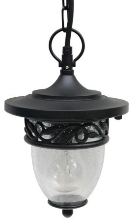 Burford Black Hanging Outdoor Porch Lantern