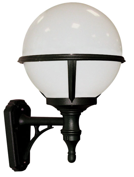 Glenbeigh Corrosion Proof Opal Globe Outdoor Wall Light