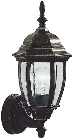 Dar Hambro Traditional Outdoor Wall Light Black And Gold
