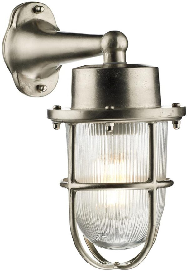 David Hunt Harbour Nickel Plated Solid Brass Outdoor Wall Lantern