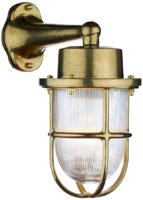 David Hunt Harbour Solid Natural Brass Outdoor Wall Lantern