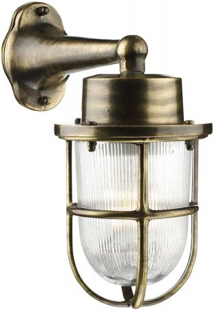 David Hunt Harbour Solid Antique Brass Outdoor Wall Lantern