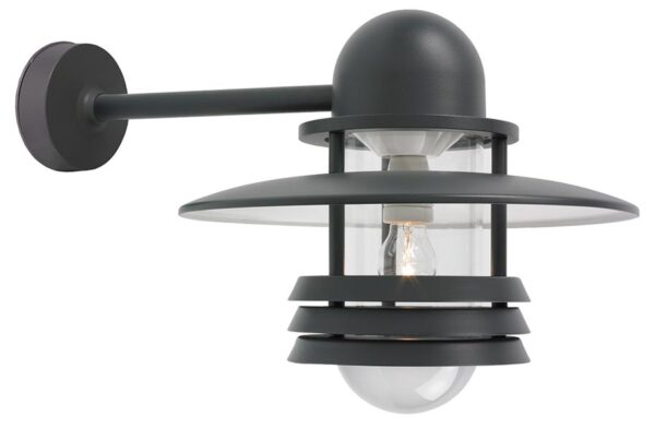 Elstead Helsinki large outdoor wall lantern in graphite IP54